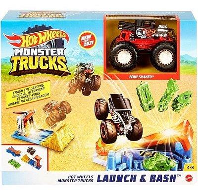 Pista Hot Wheels Monster Trucks Conjunto Launch E Bash