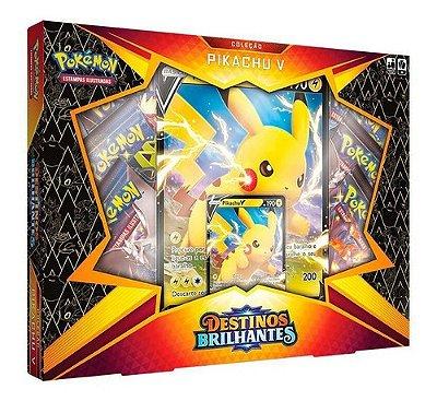 Pokémon Box Destinos Brilhantes Coleção Pikachu V Swsh4.5