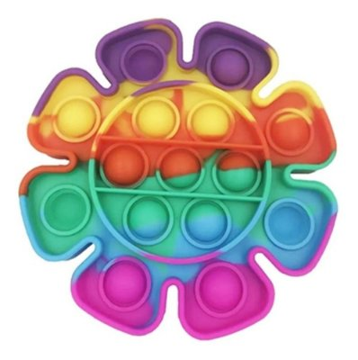 Pop It Fidget Toy Fidget Toy Pop Flor Rainbow