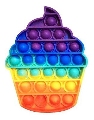 Pop It Fidget Toy Fidget Toy Pop Sorvete Rainbow