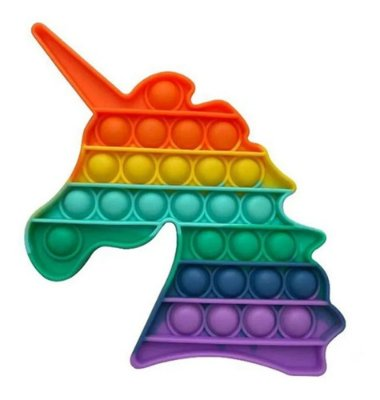 Pop It Fidget Toy Fidget Toy Pop Unicornio Rainbow