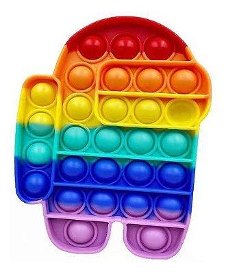 Pop It Fidget Toy Fidget Toy Pop Among Us Rainbow