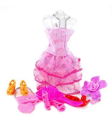 Roupa Pra Barbie Bonecas Acessórios Bolsas Pentes Meu Closet