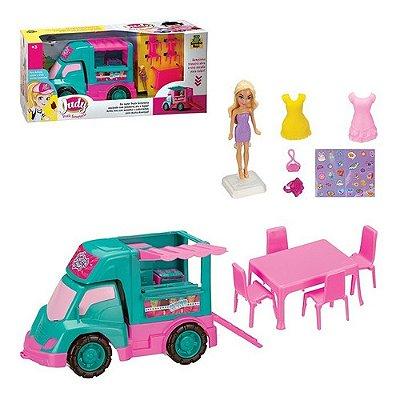 Carro Sorveteria Da Judy Com Boneca Food Truck C/ Acessórios