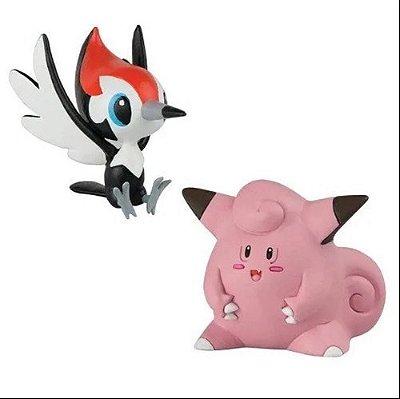 Set C/ 2 Bonecos - Pikipek Vs Clefairy - Pokémon - Tomy