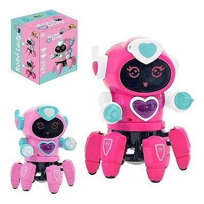 Robô Lady Face Digital Infantil Dançarino Com Som E Luz