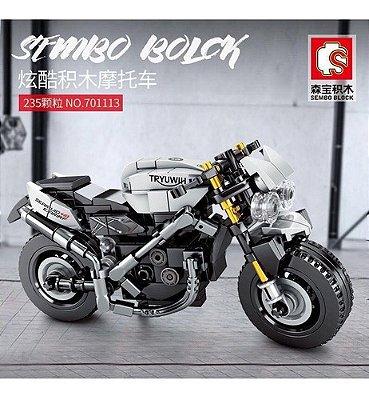 Blocos De Montar Moto De Corrida Esportivos Classica