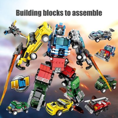 Blocos De Montar Transformers Optimus Prime 4 Em 1 C/ 777pç