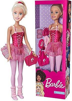 Boneca Barbie Profissões Articulada Bailarina 65cm De Altura
