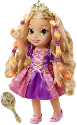 Boneca Mágica Rapunzel Disney Com Luzes E Musical 30cm Luxo
