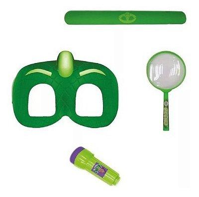 Kit De Aventuras Do Lagartixo Fantasia Pj Masks Com Mascara