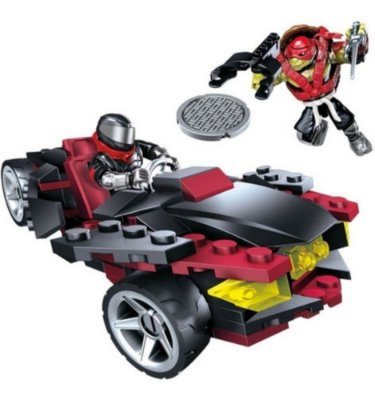 Mega Blocks Tartarugas Ninja Ataque Motorizado 122 Peças