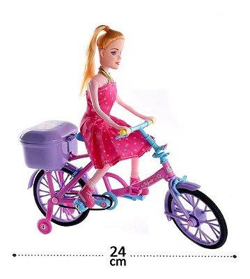 Boneca De Bicicleta Musical - Com Luzes Anda Sozinha Linda
