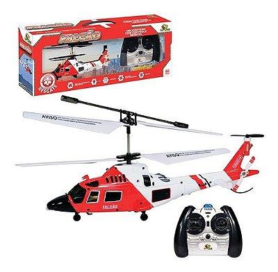 Helicóptero De Controle Remoto Falcão Regaste A Bateria