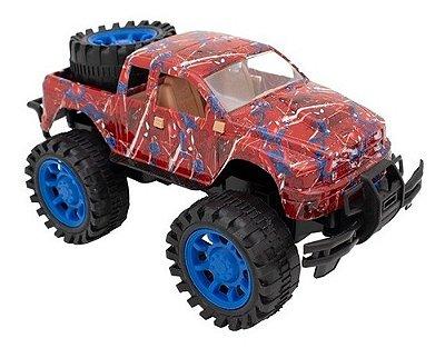 Carro De Friccao Vingadores Pickup Estampada 4x4 - Homem Aranha