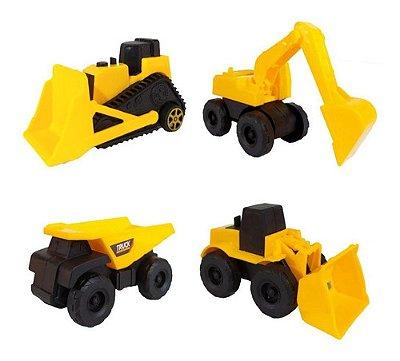 Trator Escavadeira De Construção Com Fricção 11 Cm Sortidos