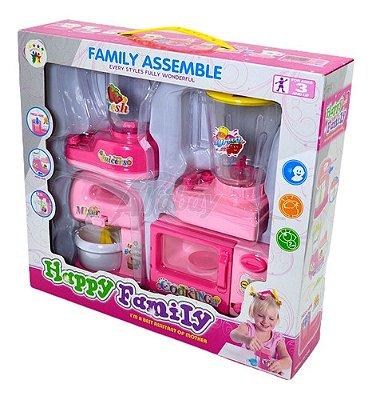 Cozinha Infantil Liquidificador Batedeira Microondas C Som
