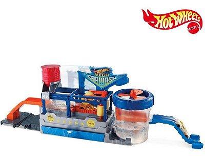 Hot Wheels City Pista E Acessorio Mega Lava-rapido + Carro