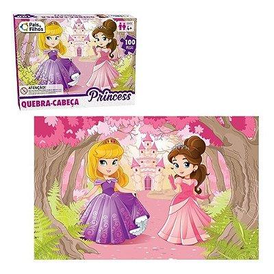 Quebra Cabeça Infantil Princesas Magiva Com 100 Peças