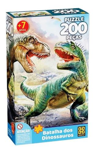 Puzzle Quebra-cabeça Batalha Dos Dinossauros 200 Peças