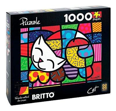 Quebra-cabeça Puzzle 1000 Peças Romero Britto - Cat Grow