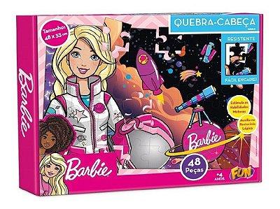 Quebra Cabeça Infantil - Barbie Astronauta 48 Peças - Fun