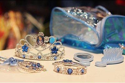 Mochilinha Cinderela Princesas Disney Com Tiara Varinha +