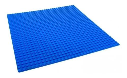 Base Pra Coloca Blocos De Montar Azul 26x26 Cm Xalingo