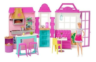 Boneca Barbie Conjunto Playset Restaurante Gigante 75cm 2021