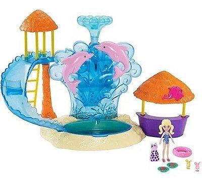 Boneca Polly Pocket Parque Aquático Dos Golfinhos De Luxo