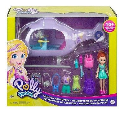 Boneca Polly Pocket Helicóptero Da Polly Com Malas E Roupa
