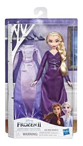 Boneca Articulada - - Frozen 2 - Troca De Roupa - Elsa -