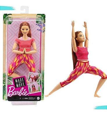 Boneca Barbie Ruiva Made To Move Feita Para Mexer 2021