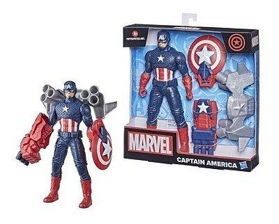 Boneco Marvel Figura Ulympus Capitão América Com Arminha