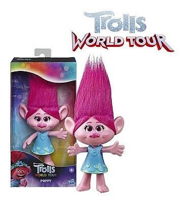 Boneca Trolls World Tour Figura Básica Poppy 20 Cm Hasbro