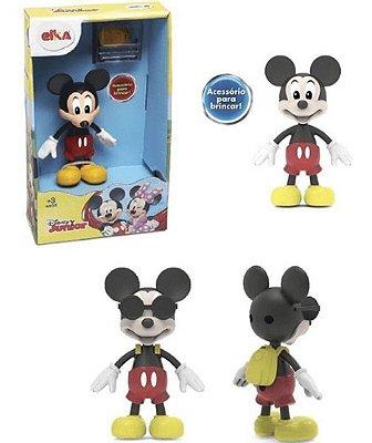 Boneco Disney Junior Mickey Flexível - Com Óculos Mochila