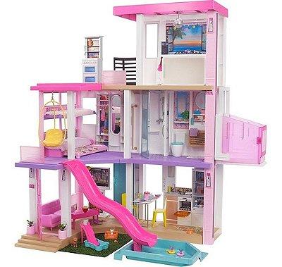 Nova Casa De Bonecas Barbie Dreamhouse Com Luzes E Sons