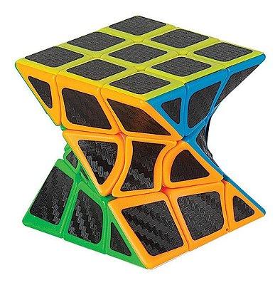 Cubo Magico Profissional Skewb Twisty Fibra De Carbono