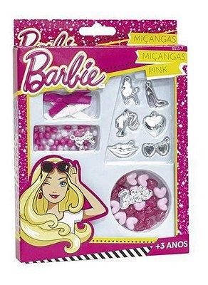 Kit Fabrica De Miçangas Pink - Barbie - Pulseira Com Pigente