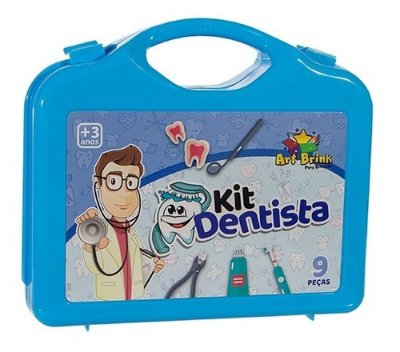 Kit Dentista Boy 12 Peças Art Brinks Azul