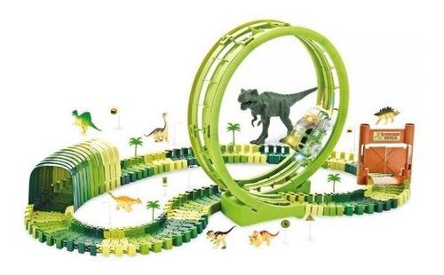 Pista De Corrida Dinossauro Track Com Loop E Túnel Radical