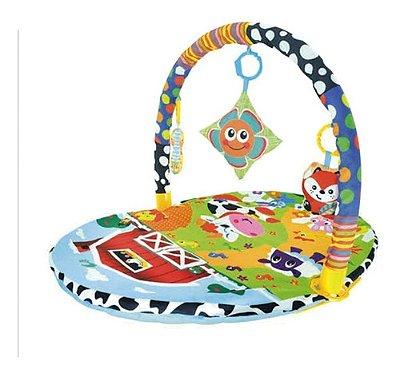 Tapete De Atividades Ginásio Bebe Baby 3 Briquedinhos Mobile