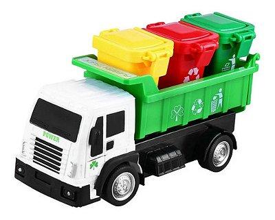 Carrinho De Controle Remoto - Caminhão De Lixo - Reciclagem