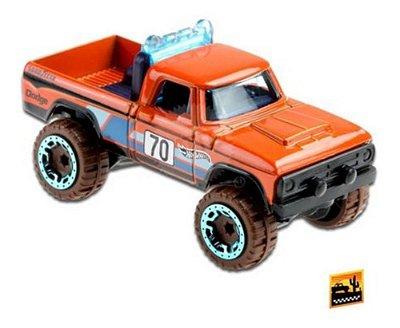 Carrinho Hot Wheels - '70 Dodge Power Wagon Picape 4x4 - Laranja