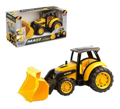 Trator Caminhão De Briquedo Grande 40x20 Cm - Amarelo