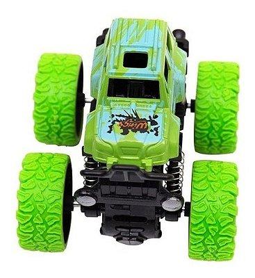Carrinho Big Foot Monster Mini Truck Pick 4x4 Fricção - Verde