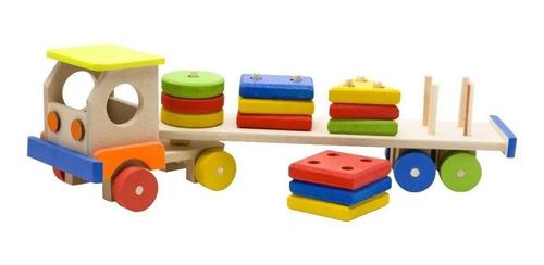 Caminhão Carreta Educativo Pedagógico Formas Geométricas