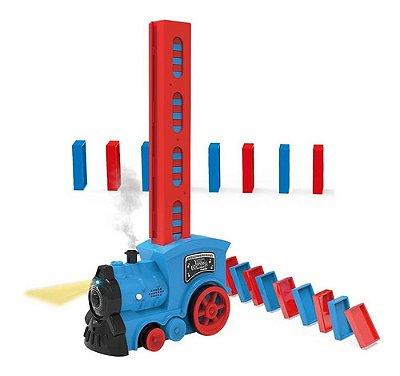Brinquedo Infantil Trem Dominó Divertido Som E Luz Empilha