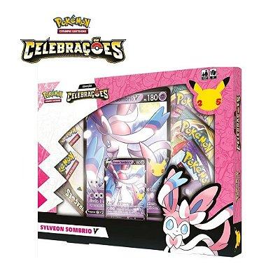 Box Celebrações Sylveon Sombrio V Pokemon Original Copag + 10 Sleeve