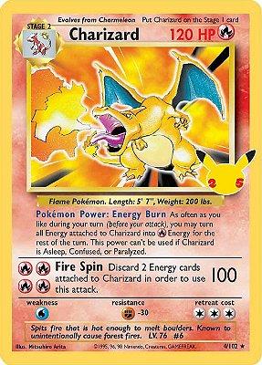 Carta Pokémon Charizard Celebrações Original + Brinde
